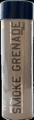 Rauchgranate WP40 mit Reißzündung Schwarz