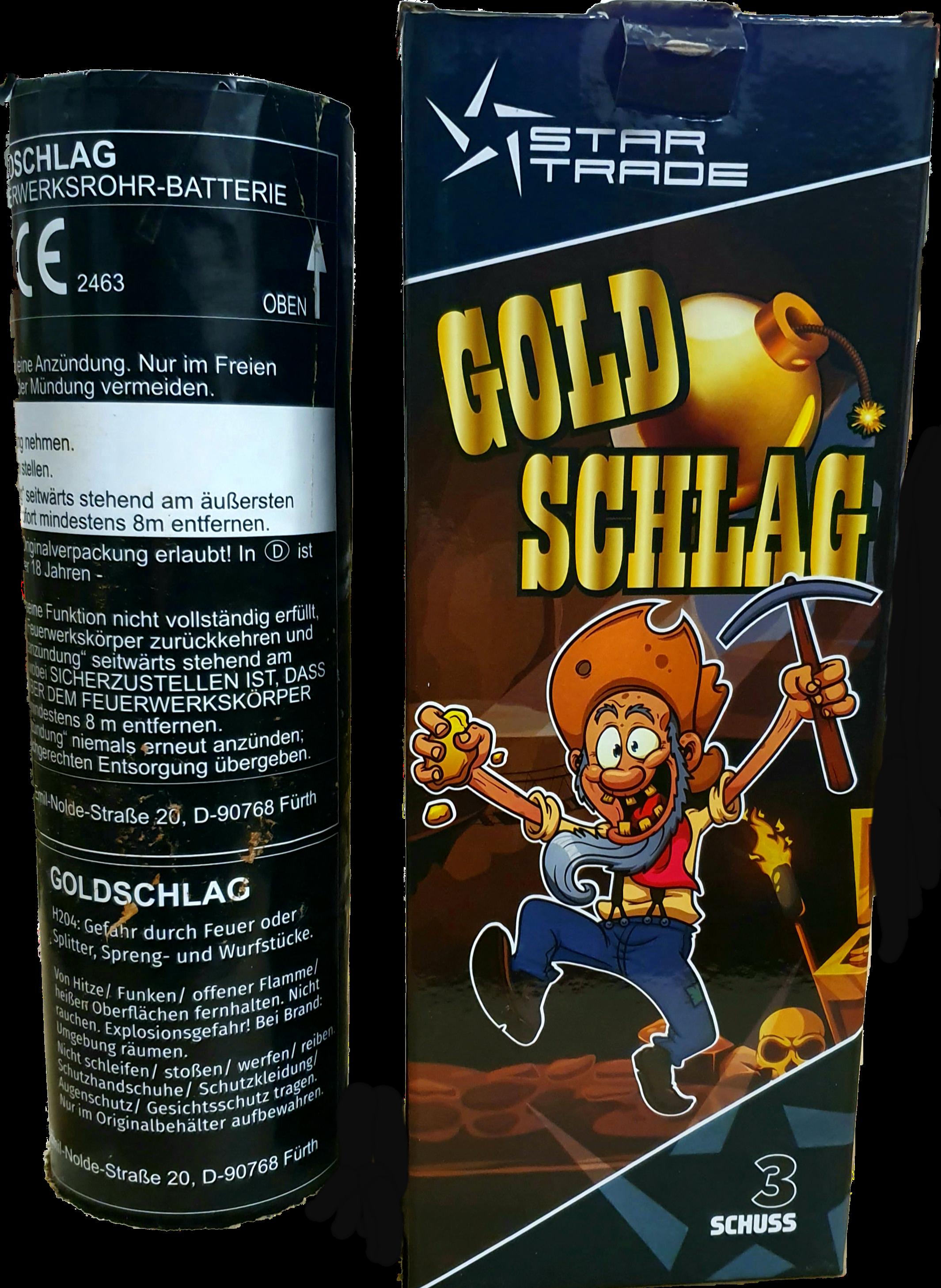 Goldschlag Bombenrohr